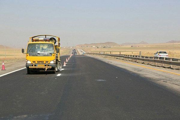 انجام 54 هزار متر خط کشی در طول محورهای شهرستان قزوین