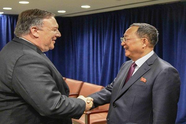 ارزیابی مثبت پمپئو از دیدار دوجانبه با وزیر امور خارجه کره شمالی