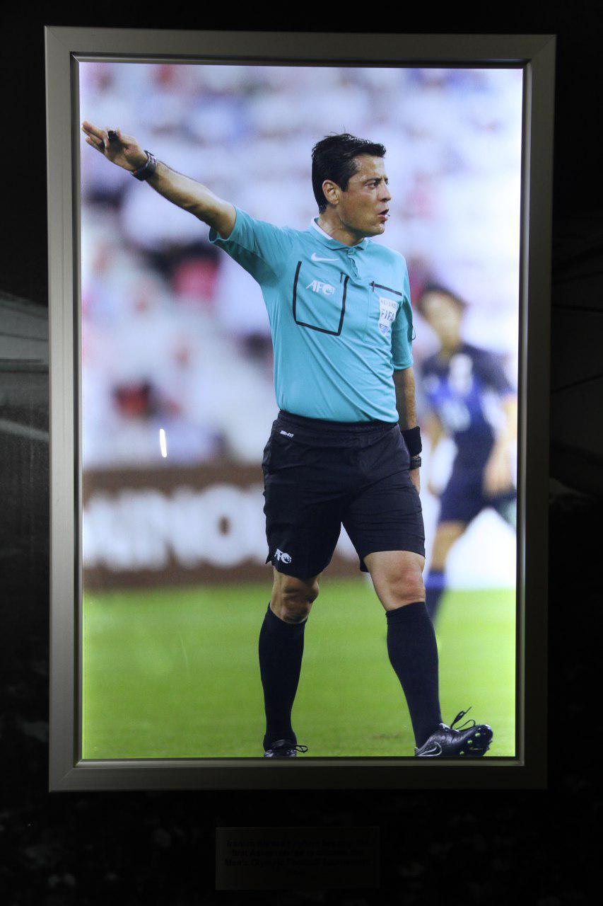تصویر فغانی در تالار افتخارات کنفدراسیون فوتبال آسیا