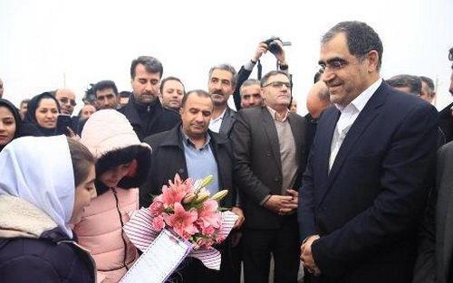 کلنگ زنی احداث بیمارستان 220 تختخوابی خدابنده با حضور وزیر بهداشت