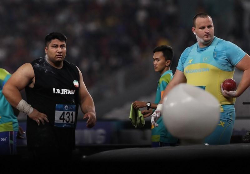 دوومیدانی قهرمانی آسیا، دست شاهین مهردلان به مدال پرتاب وزنه نرسید