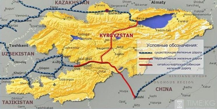 سود 200 میلیون دلاری قرقیزها از راه آهن چین- قرقیزستان- ازبکستان